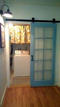 Laundry Room / Barn Door Makeover - farmhouse - laundry room - not blue.