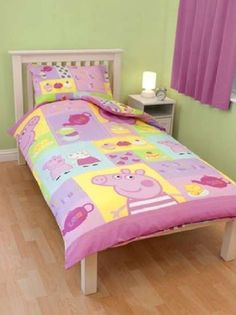 Peppa Pig bedding! Ffion is going to be so excited when this arrives!!