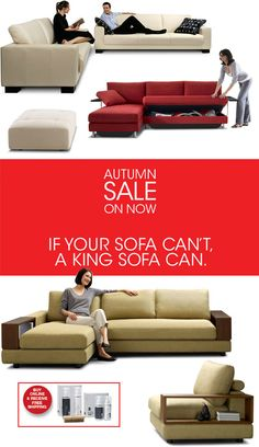 King Furniture: Stylish Modern Sofas, Now At Up To 40% Off + Free Shipping On Selected Items
