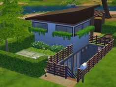 Fresh and relaxing little house great for your sim who loves meditation and yoga. An house made by natural material and furnished with simple taste. The garden and the patio help to relieve your...