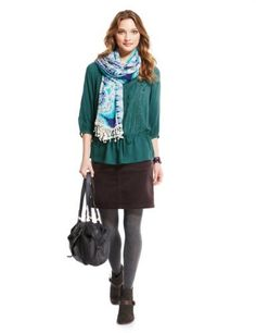 Indigo Collection Pure Modal Embroidered Top-Marks & Spencer