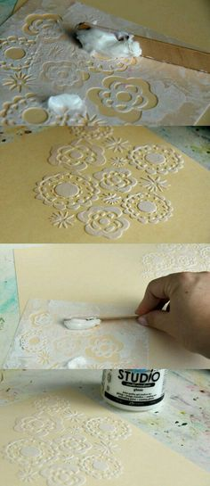 Add texture to your paper crafting. 2019 Add texture to your paper crafting. The post Add texture to your paper crafting. 2019 appeared first on Scrapbook Diy. Diy And Crafts, Arts And Crafts, Paper Crafts, Summer Crafts, Diy Paper, Decoupage, Stencils, Card Making Techniques, Paint Techniques