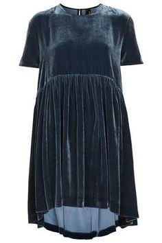 Velvet Babydoll Dress by Boutique