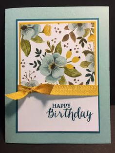 Homemade Birthday Cards, Homemade Cards, Tarjetas Diy, Birthday Card Design, Card Birthday, Flower Birthday, Birthday Cards For Women, Stamping Up Cards, Rubber Stamping