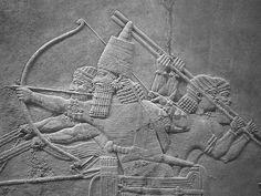 Assyrian lion hunt  British Museum