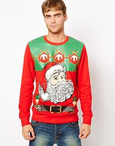 Ugly Holiday Sweater: Vintage men's holiday sweater from @asos.com. #paypalit