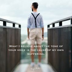 What I believe about the tone of your voice is the cause of my suffering -Byron Katie Spiritual Awakening, Spiritual Quotes, Change Quotes, Quotes To Live By, The Power Of Belief, Meditation Practices, Meditation Quotes, Mindfulness Meditation, Byron Katie