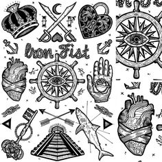 Tattoos and macabre iconography by Tom Gilmour