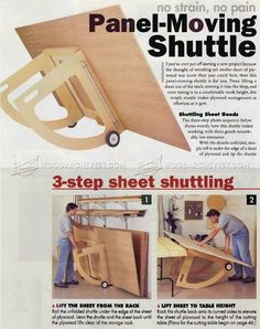 Pivoting Plywood Cart Plans - Workshop Solutions