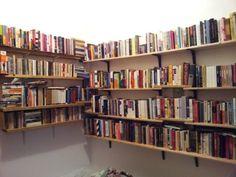 Make an Affordable Bookshelf with Bed Slats and Ikea Brackets