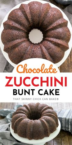 Chocolate Zucchini Bundt Cake - the addition of grated zucchini makes for a moist, delectable chocolate cake! You'll never have to reveal the secret ingredient as it tastes like a superb Chocolate Bundt Cake! Easy No Bake Desserts, Homemade Desserts, Easy Desserts, Tart Recipes, Baking Recipes, Kitchen Recipes, Vegan Recipes, Spicy Recipes, Kitchen Hacks