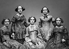 The Clark Sisters, ca. 1850 – costume cocktail