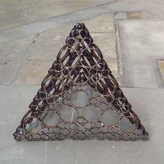 Kelly-Ann Lees,  'Triangular Prism' 2012,    mild steel,  66 x 84 x 84cm