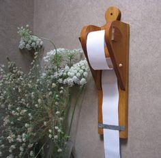 Cute Wood Message Holder - Paper Dispenser. $25.00, via Etsy.