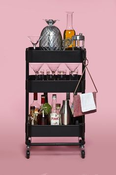 9 Beautiful Bar Carts for Your Home The Affordable Bar Cart Ikea's Rascog Utility Cart is a simple design with tons of potential. Currently available in black, ivory, or brick red, this inexpensive piece can be easily personalized and showcased.