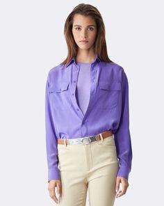 Antoinette Silk Shirt - Collection Apparel Long-Sleeve - RalphLauren.com