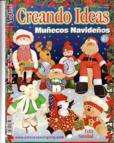 Revistas navideñas gratis 2014 Christmas Books, Christmas Humor, Christmas Time, Christmas Ornaments, Book Crafts, Crafts To Make, Craft Books, Cross Stitch Books, Painted Books