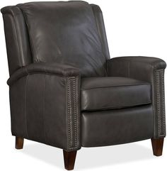 Shop for Hooker Furniture Kelly Recliner, and other Living Room Chairs furniture. Club Furniture, Hooker Furniture, Leather Furniture, Custom Furniture, Leather Recliner Chair, Leather Sofa, Grey Leather, Leather Chairs, Recliner Chairs