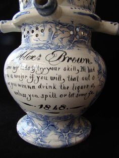Swansea Puzzle Jug Inscription