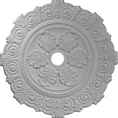 "33 1/4""OD x 3 5/8""ID x 1""P Scroll Medallion (Fits Canopies up to 3 5/8"")"