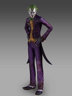 View an image titled 'Joker Render' in our Batman: Arkham Asylum art gallery featuring official character designs, concept art, and promo pictures. Batman Arkham City, Joker Arkham Knight, Joker Dc, Joker And Harley Quinn, Gotham City, Joker Game, Batman Games, Batman Art, Batman Robin