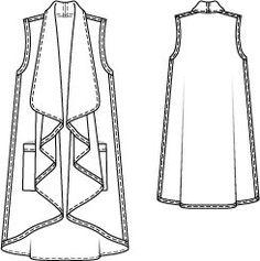 Swing Vest 10/2014 #112 – Sewing Patterns | BurdaStyle.com
