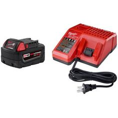 Milwaukee Electric Tool MWK48-59-1850 5 Amp Battery & Charger Kit  Features. Redlink Intelligence – Provides optimized performance and overload protection using total system communication between tool battery and charger. Best-in-class construction – Offers long-lasting performance and durability. Fuel gauge onboard – Displays remaining runtime for less downtime on the job. All-weather performance – Delivers fade free power in extreme jobsite conditions. Add any M18 Tool-Only Option ..