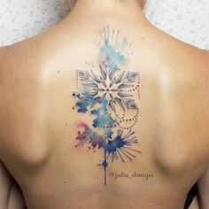 Watercolor snowflakes by Julia Dumps