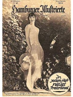 Louise Brooks magazine cover 1928 Germany
