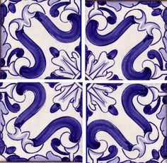 French Ultramarine Blue (FUB) ceramic tiles. Heaven!