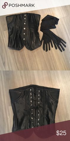 Woman's Corset Women's Black Corset Tops Blouses