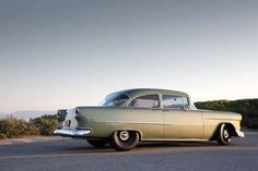 55 Chevy BelAir restomod - I'm really starting to appreciate these low-key treatments. Chevrolet Bel Air, 1955 Chevrolet, 1955 Chevy, Firebird, Vintage Cars, Antique Cars, Mustang, Gm Car, Ford Classic Cars