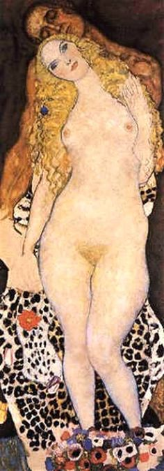 Adam and Eve (unfinished) 1917 18 - Gustav Klimt