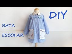 SEWING TUTORIAL: How to sew this back to school smock for babies. Visit my etsy shop: . ******************************************************************* Pattern available at my shop, sizes 1 to 6 years. Complete sewing tutorial with easy techniques Sewing For Kids, Baby Sewing, Kids Patterns, Sewing Patterns, Sewing Pockets, Diy Back To School, Learn To Sew, Sewing Clothes, Manga