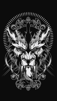 to ] Great to own a Ray-Ban sunglasses as summer gift.Lycanthrope Illustration by Shulyak Brothers , via Behance T Shirt Art, Tatoo Art, Lion Tattoo, Panzer Tattoo, Wolf Skull, Desenho Tattoo, Doodles Zentangles, Wolf Tattoos, Grafik Design