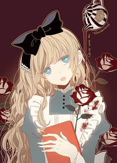 Alice in Wonderland anime art Manga Kawaii, Kawaii Anime Girl, Anime Art Girl, Anime Manga, Anime Girls, Chibi, Alice Anime, Wonderland, Anime Version