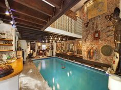 Pool. Indoors (as part of the living space). And a swing! Wacky wishes.