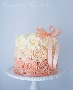 Rosette pink shades cake