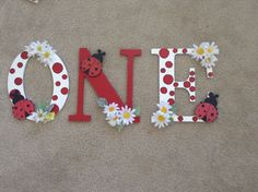 """Found this idea on Pinterest and used it to create one similar to it for my favorite baby girl turning """"1"""""""