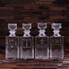 Set of 5 Personalized Engraved Etched Whiskey by TealsPrairie, $137.93