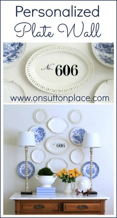 Personalized Plate Wall ~ includes the source for the address decal.