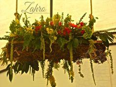 Diseño floral colgante