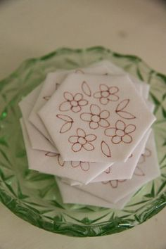 Add some embroidered hexies:  why didn't I think of that.....