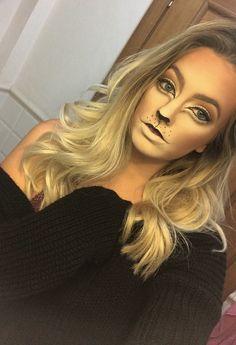 Lion Cat Halloween makeup costume