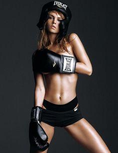 Nude women boxing