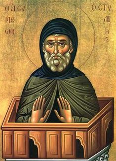 Symeon the Stylite - Celebrated September From the GOArch Online Chapel Religious Images, Religious Art, Orthodox Calendar, Byzantine Icons, Russian Orthodox, Catholic Saints, Orthodox Icons, Statue, Painting
