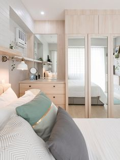 Decorating:Tips A Modern Scandinavian Look for a Condo Unit Condo Interior Design, Condo Design, Modern House Design, Modern Condo, Interior Decorating, Condo Bedroom, Home Decor Bedroom, Design Bedroom, Bedroom Modern