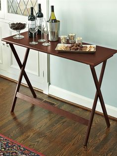 Add a sturdy buffet table for your next party. Sets up in an instant and folds for storage in a closet or garage.