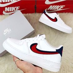 release date: 81203 6086f Nike Air Force 1 - Blue Vold   University Red - really cool sneaker for  women!