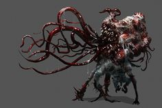 Necromorph 3 by Chenthooran on DeviantArt Dnd Monsters, Cool Monsters, Monster Concept Art, Monster Art, Call Of Cthulhu, Arte Horror, Horror Art, Creature Feature, Creature Design